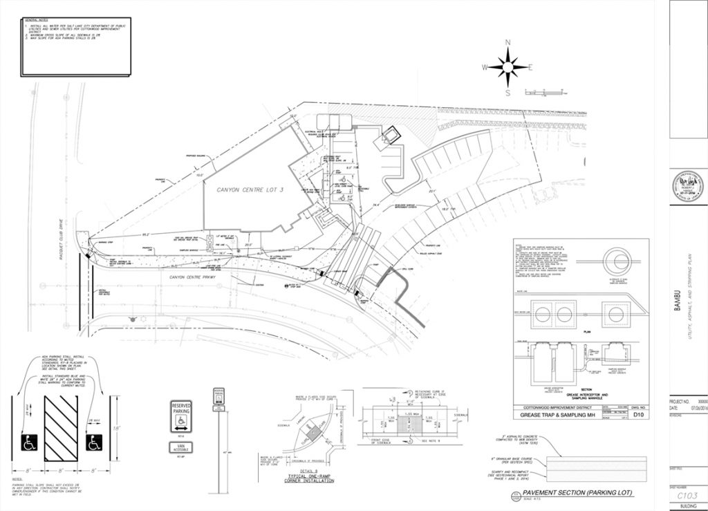 Bambu Restaurant Civil Plans